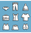 Set icons Dress code vector image