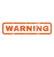 Warning Rubber Stamp vector image