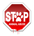 Stop Animal Abuse vector image vector image