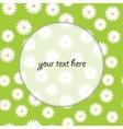 floral round frame vector image