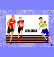 The running people vector image
