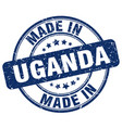 Made in uganda vector image