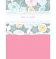 Silver and colors florals vertical torn frame vector image vector image