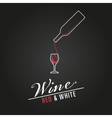 wine glass concept menu design poster vector image