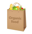 Bag with food vector image