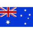 Australian flag embroidery design pattern vector image
