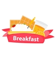 Breakfast Cereal Oatmeal and Orange Juice Icon in vector image vector image