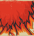 Grunge Fire Background vector image vector image