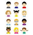 avatar children set vector image