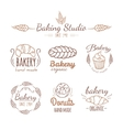 Bakery logo elements vector image