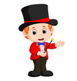 boy magician cartoon vector image