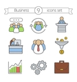 Business color icons set vector image