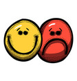 cartoon image of emotion icon emotion set vector image