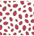 cute ladybirds seamless pattern print for kids vector image