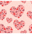 Cute Valentine love seamless pattern vector image