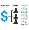 Money Recipients Icon with Flat Set vector image