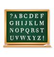 abc set written on blackboard vector image