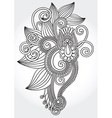 hand draw line art ornate flower vector image vector image