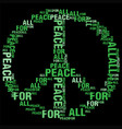 peace for all black bg vector image