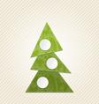 Christmas abstract tree minimal style vector image vector image