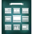 Transparent web site page templates collection vector image