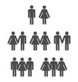 Gender symbol 2 vector image vector image