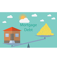 Flat design modern concept for investment in real vector image