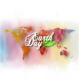 Earth Day background with the words world map and vector image