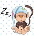 Sleeping Monkey vector image
