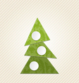 Christmas abstract tree minimal style vector image