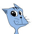 funny face cat vector image