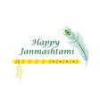 Happy janmashtami Indian feast of the birth vector image