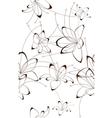 Seamless background floral design vector image