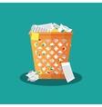 Trash Recycle Bin Garbage vector image