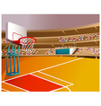 Basketball Court Stadium vector image vector image