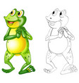 animal outline for frog standing vector image vector image