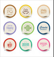 modern bubble speech sticker collection vector image vector image