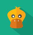 Modern Flat Design Duck Icon vector image
