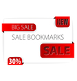 paper bookmarks vector image