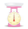 pink color weight scale market isolate on white vector image vector image