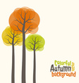 Autumn colorful trees vector image vector image