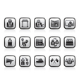 Election and political party icons vector image