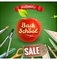 Back to School sale background EPS 10 vector image