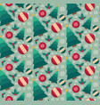 fir tree and decorative toys seamless pattern vector image