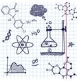 Hand draw chemistry elements vector image