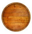Round wooden barrel background vector image