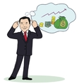 smiling businessman standing think vector image