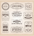 vintage and old-fashioned labels and signs vector image