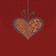card with a heart gift and creative design vector image vector image