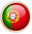 round badge for portugal flag vector image